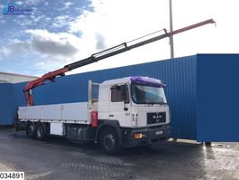 platform truck MAN 26 403 6x2, EURO 2, Manual, Heila crane + Hydraulic Jip, 1998