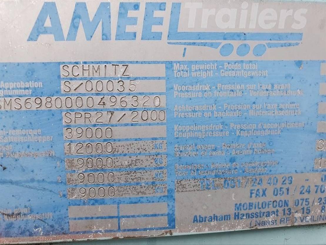 Schiebeplanenauflieger Schmitz Cargobull SPR 27/2000 2001