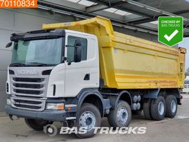 tipper truck > 7.5 t Scania G400 8X4 Manual 30m3 Big-Axle Steelsuspension 2012