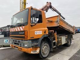 tipper truck > 7.5 t DAF CF 75.240 ATI 4X4 MANUAL FULL STEEL + ATLAS AK 80,1 A2 1995