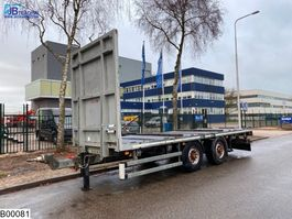 flatbed semi trailer Samro open laadbak 2011