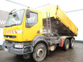 tipper truck > 7.5 t Renault Kerax 370 DCI , 2 way tipper , ZF Manual , Spring suspension , 6x4 2004