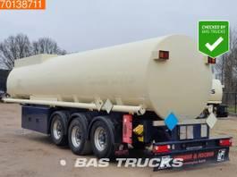 Tankauflieger Lindner & Fischer TSA 36 LTD 3 axles 34.350 Ltr. Fuel Benzin Pump Counter ADR 2x Liftachse 2009