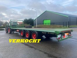 flatbed full trailer Samro AGROLINER mid-triple