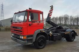 container truck DAF 1900 IC - 4x2 - 56.296 KM ORIGINAL EX BRANDWEER - CONTAINERHAAK