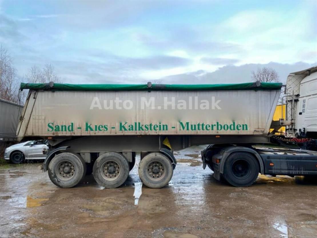Kipper Auflieger Meierling 25m³ MSK 24 Voll Alu Leer 4500 Kg Liftachse