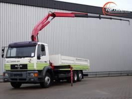 platform truck MAN 20 284 6x2 - 11TM Kraan, Crane, Kran, Crue 2000