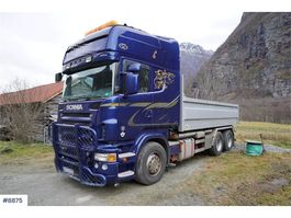 container truck Scania R620 6x4 hook lift w / dumper box 2007