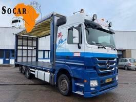 drop side truck Mercedes-Benz ACTROS 2644 6x2 MP3 Pluimvee/Geflügel /Chicken transport 2013