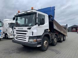 tipper truck > 7.5 t Scania P380 8X4 Manual gearbox Steelsuspension Boardmatic 2007