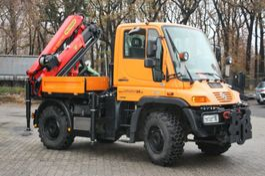 Kranwagen Unimog U 300 mit Kran PK 9002 neu & Kranseilwinde