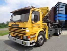 tipper truck > 7.5 t Scania P92.320 Tipper / Crane / Full Steel / Manual / 6x2 / Euro 2 1986
