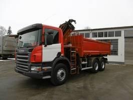 tipper truck > 7.5 t Scania P380 Kipper 6x4 Bordmatik Kran Funk-FB 2011