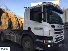 container truck Scania P400 hook truck 2013