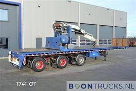 flatbed semi trailer Floor FLUO 18 30H + HIAB R300 | 3 X STEERING * 600 CM EXTENDABLE 1994