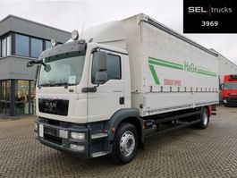 sliding curtain truck MAN TGM 18.290 4x2 LL / Ladebordwand