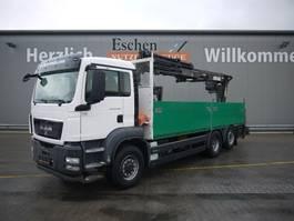 drop side truck MAN TGS 26.320H BL,  6x4, Atlas 210.2 Kran 2011