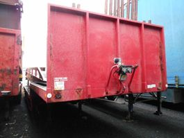 flatbed semi trailer Kaiser col de cygne suspensions meca 2 essieux 1990