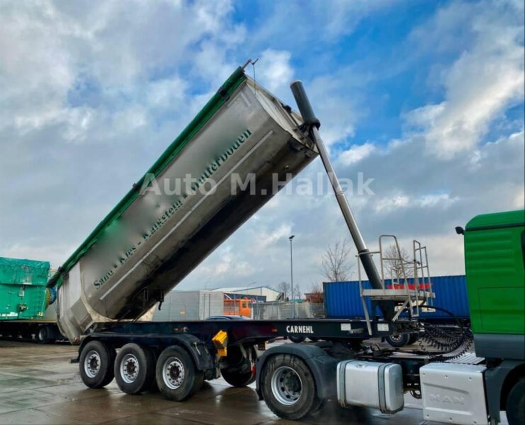 Kipper Auflieger Carnehl 26 m³ Stahl / Alu Leer: 4890 Kg Liftachse
