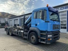 container truck MAN TGA 26.310 6x2 Abrollkipper + Kran PK 12502
