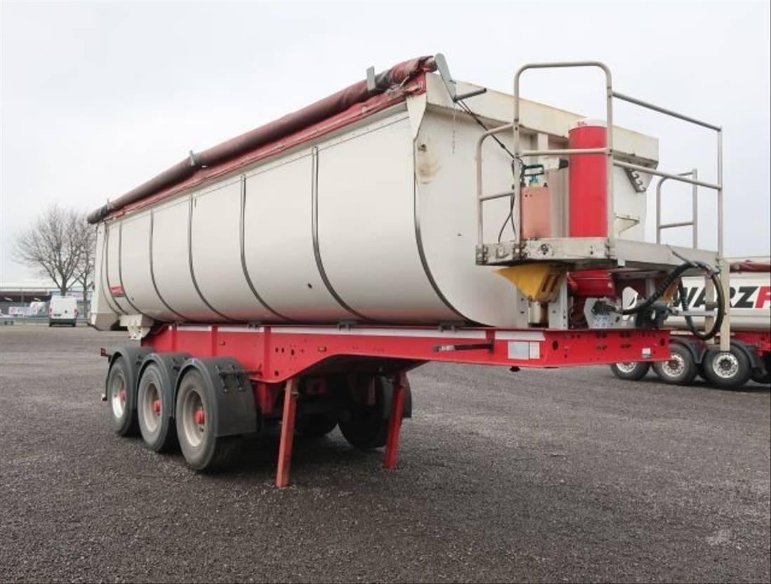 tipper semi trailer Langendorf SKS-HS 24/30 24m³ Stahl Thermo Asphalt 1.350 mm 2015