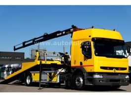 tow-recovery truck Renault Premium 250 250Top org 70000km Kran Schiebe-Plateau 2000