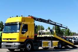 car transporter truck Renault Premium 250 250Top org 70000km Kran Schiebe-Plateau 2000