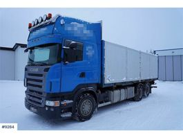 container truck Scania R500 6x2 container chassis w / lift and box 2006