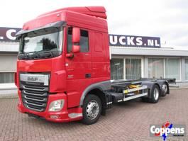swap body truck DAF XF 410 6x2 Chassis cabine/BDF Euro 6 2016