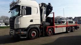 crane truck Scania R420 8x2 met 60 ton HMF ODIN 7x extandable  REMOTE 2005