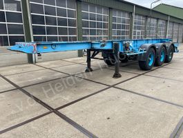 container chassis semi trailer Van Hool 20ft tankcontainer transport 1983