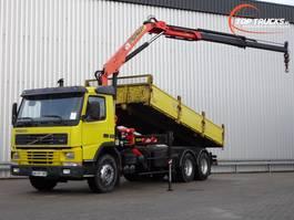 crane truck Volvo FM7 290 6x2 - Palfinger 12TM Kraan, Crane, Kran, Crue - Kipper, Tipper 2001