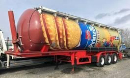 tank semi trailer semi trailer Feldbinder 3 achs Kippsilo 57 m³ luft BPW 1996