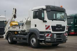 container truck MAN TGS 18.320 4x2BB Meiller AK 12.T Funk Euro5 AHK