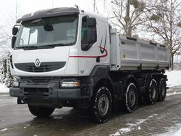 tipper truck > 7.5 t Renault KERAX 460 8x4 E5 EEV DSK Mit Bordmatik