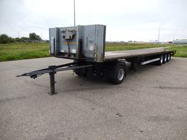 flatbed semi trailer Van Hool 3B2011 3 As Oplegger Open MEGA I.c.m. een Dolly, OJ-23-SY 2007