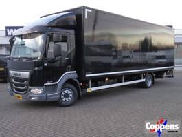 closed box truck DAF LF 210 FA 4x2 Gesloten bak met klep Euro 6 2018