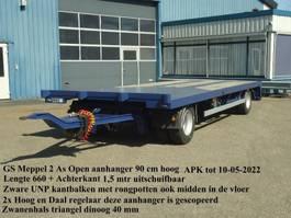 turntable full trailer GS GS 2 As Open aanhanger Zware UNP kantbalken Uitschuifbaar achterkalf 2004