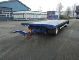 turntable full trailer GS AV-2000 L 2 As Open aanhanger Zware UNP kantbalken Uitschuifbaar achterkalf 2004