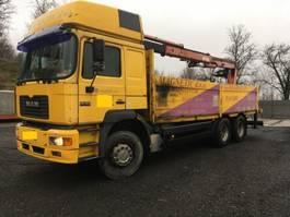 platform truck MAN 26.463 6x4 stake body with atlas crane 140.1 - SPRING 1998
