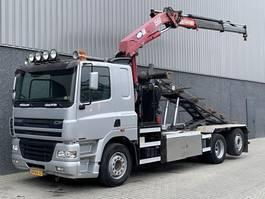 container truck DAF CF85-380 / HMF 15t/m Kraan / Kabel / 6x2 / 5e en 6e Functie / LOW KM / NL Truck 2006