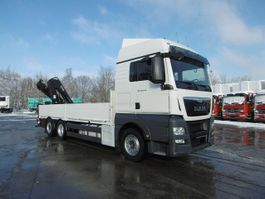 drop side truck MAN 26.440 TGX Pritsche Kran Lift-Lenkachse Euro 6 2015