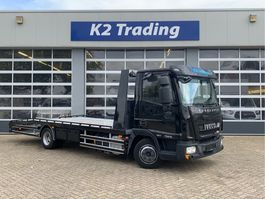 car transporter truck Iveco EuroCargo 75 75E18 EEV Automaat Airco Luchtveering Lier Auto Machine transport 2013