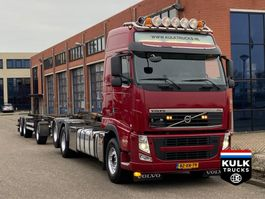 container truck Volvo FH 500 6X2 / TRANSLIFT / 10 WHEELS NL TRUCK + TRAILER 2012