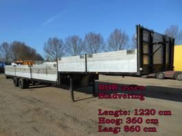 lowloader semi trailer Broshuis 2 As 2AO.12.20 Oplegger Dieplader Open, OX-04-62 1974