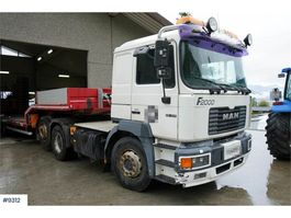 cab over engine MAN F26.414 6x2 truck. See km! WATCH VIDEO 2000