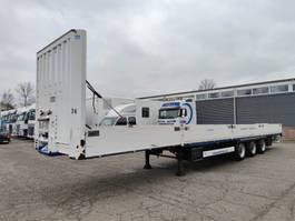 flatbed semi trailer Krone SD 3-Assen MEGA - BPW - Schijfremmen - Alumium Borden (O498) 2011