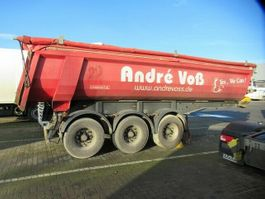 tipper semi trailer Langendorf 25 cbm Stahlkipper, Lift, Gummidichtung