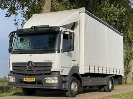 sliding curtain truck Mercedes-Benz ATEGO 1218L. Aut.  EURO6.  09-2015  108502km! Schuifzeil met Laadklep 600x248x235 2015
