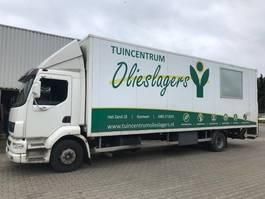 closed box truck DAF Daf LF Bloemen / planten , verwarming , 11.990 kg totaal 2003